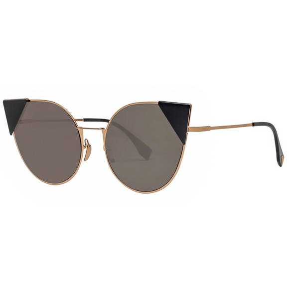 b81e9383d1 Fendi Sunglasses Rose Gold Black w Brown Lens